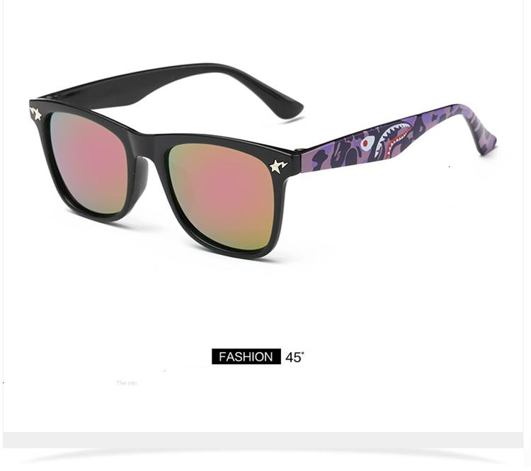 MOSILIN Brand Kids Camouflage Sunglasses Baby Military Goggles Glasses Girls Boys Mirror Coating Eyewear Flat Shark Oculos Infantil (14)