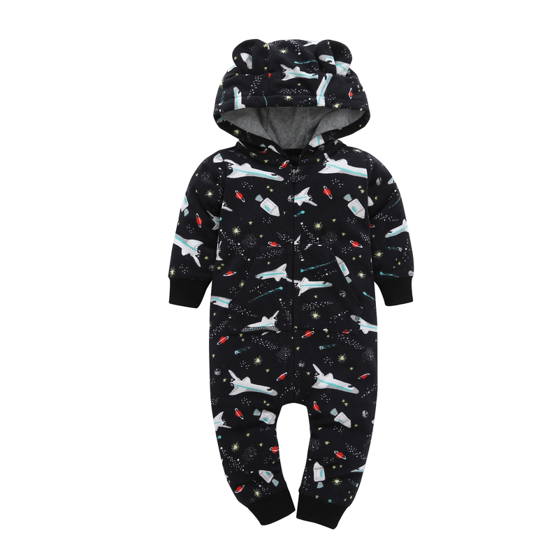Hooded Baby Boys Girls Rompers unisex Newborn Clothing infant Long Sleeve Jumpsuits overalls New born autumn winter costume