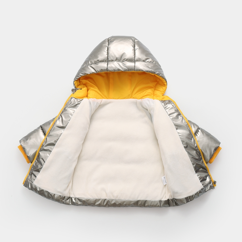CROAL CHERIE Children`s Parkas Kids Winter Jacket For Girl Boys Winter Coat Warm Thick Velvet Hooded Baby Coats Outerwear (7)