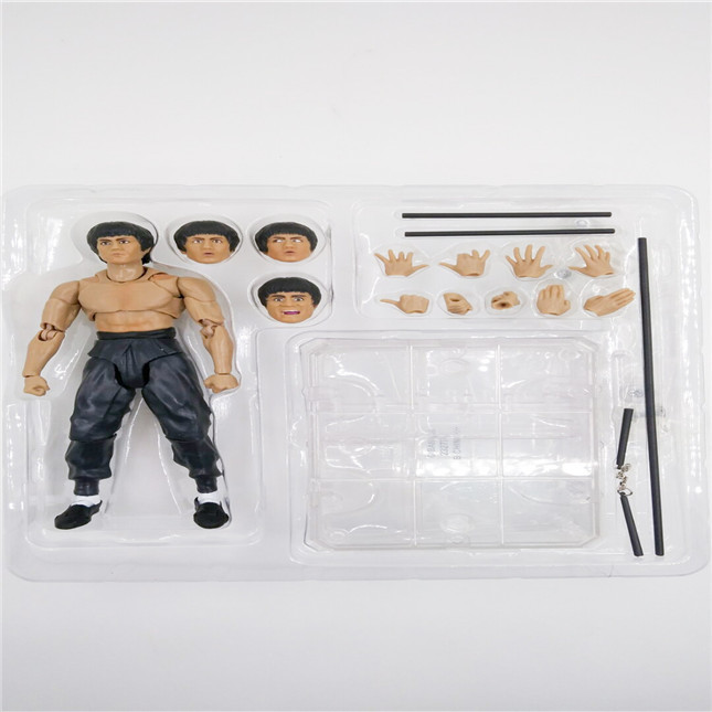 SHFiguarts King of Kung Fu Bruce Lee Variant With Nunchaku Action Figure Collectible Model Toy 15cm (7)
