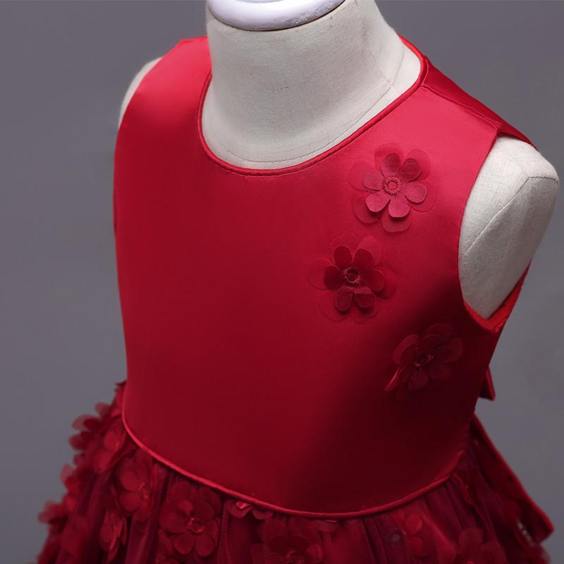 2019 Fashion Children Dresses For Girl Clothes Elegant Fower Girls Dress Kids Princess Birthday Applique Prom Designs Ball Gown (7)