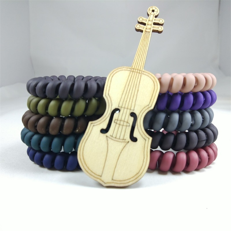 Frosted Colored Telephone Wire Elastic Hair Bands For Girls Headwear Ponytail Holder Rubber Bands Women Hair Accessories