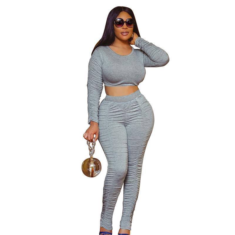Womens outfits long sleeve set tracksuit jogging sportsuit shirt leggings outfits sweatshirt pants sport suit hot selling klw5003