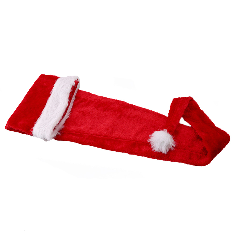 New product Winter Adult and child Santa Claus long red Christmas hat