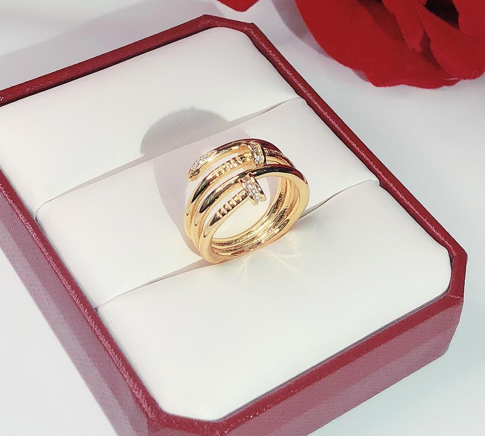 Hot brands screw fashion nails Gold Rings Women Punk for Best gift luxurious Superior quality jewelry Three Circle Ring