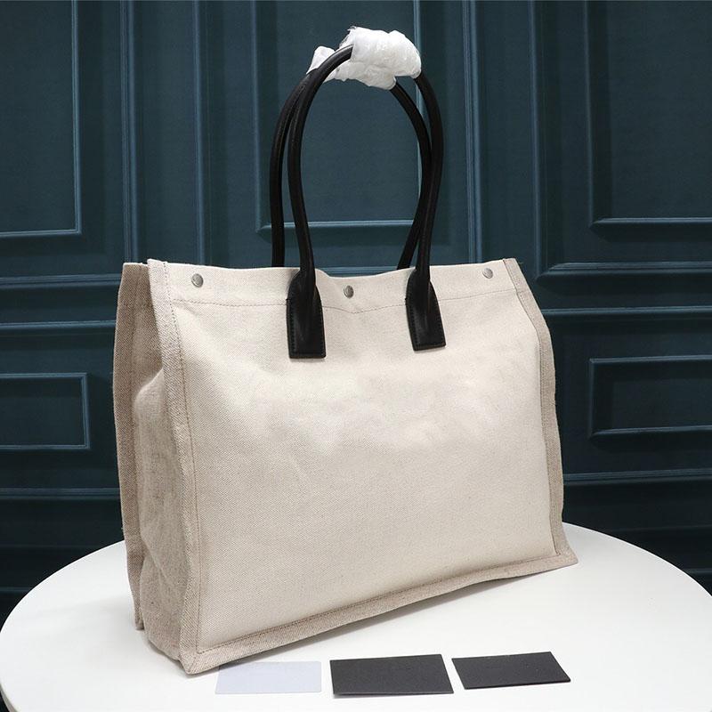 Women handbags Rive Gauche Tote Bag shopping bag handbag all black shopping tote fashion linen Large Beach bags luxury designer travel bag
