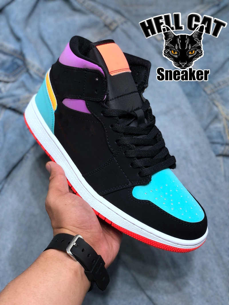 Jumpman 1 Womens Mens Basketball Shoes 1s Mid Chicago Black Toe High OG Light Smoke Grey 1 trainers Pine Green Obsidian sneakers