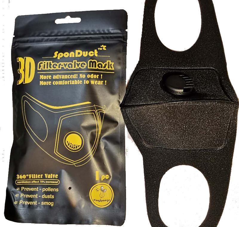 Mask Valve Filter Respirator Washed Dust Can Black Mask With Sponge Breathable Reused Pm2.5 Be jyGHR hotstore2010
