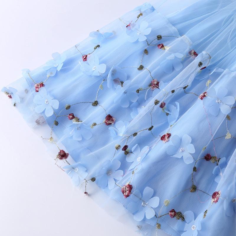 Elegant Pearl Applique Girls Dresses Teenage Princess Birthday Wedding Party Ball Gown Fashion Children Dress For Kids Clothes (3)