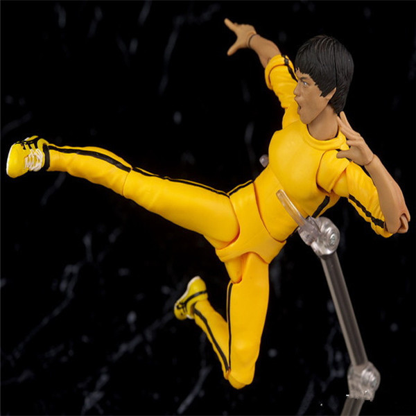 SHFiguarts King of Kung Fu Bruce Lee Variant With Nunchaku Action Figure Collectible Model Toy 15cm (14)