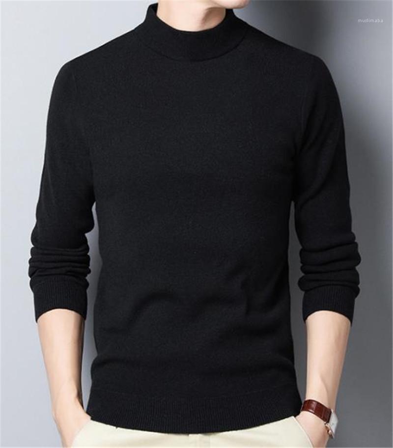 119 € Dstrezzed-roll cuello suéter Jaquard caballero negro nuevo