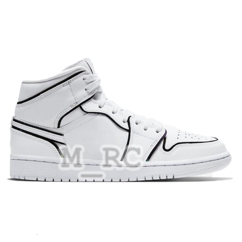 Iridescent Reflective 1 High jumpman 1s men basketball shoes Satin Snake Chicago pine green black court purple white Black Bred Toe sneakers