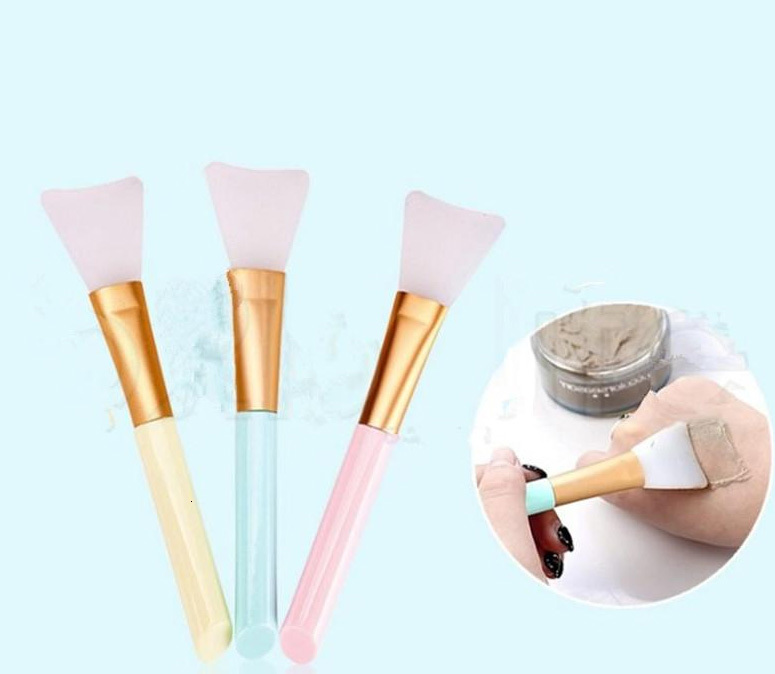 Silicone Mask Brush DIY Soft Facial Face Mask Mud Mixing Skin Beauty Foundation Cleaning Tools Opp Bag Pack WX9-1301