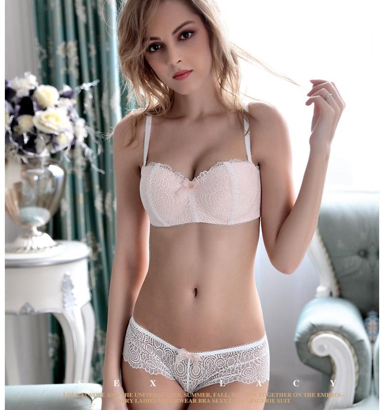 Jerrinut Sexy Lace Underwear Set Underwear Women Push Up Bra Lingerie Set Lace Transparent Underwear Panties And Bra Set 13