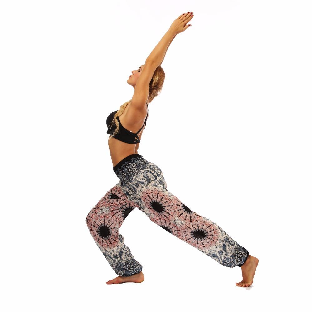 TL010- Watercolor floral wide leg loose yoga pants leggings (5)