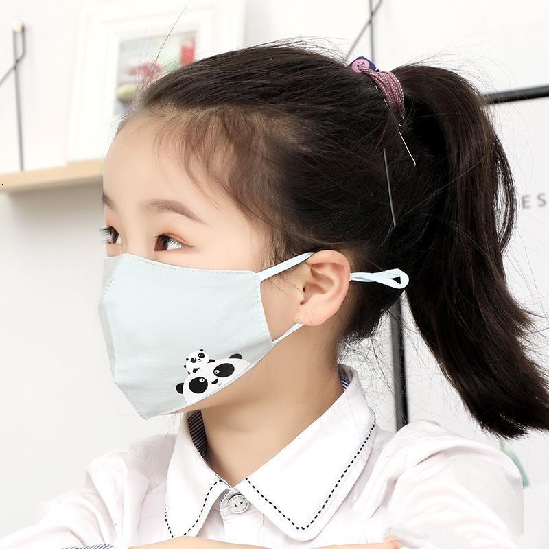 Face Breather Anti Valve Kids Children Layers Pm2.5 Mask Masks Cartoon Mask For Protective Thicken Disposable With Face Dust xhlight kLxNR