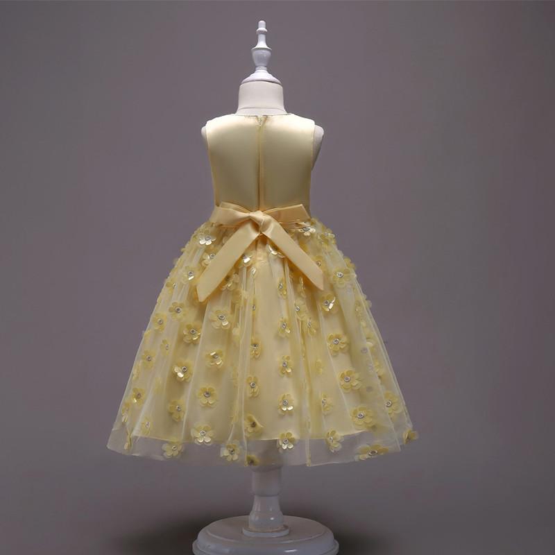 2019 Fashion Children Dresses For Girl Clothes Elegant Fower Girls Dress Kids Princess Birthday Applique Prom Designs Ball Gown (11)