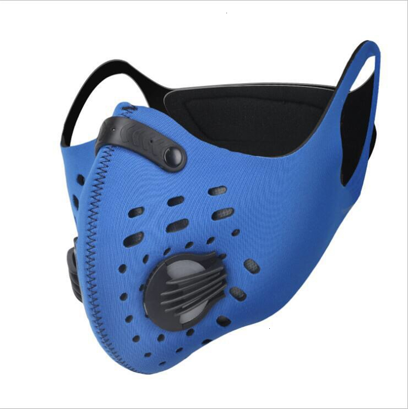 DHL/Fedex Fast Ship! Outdoor Sports PM2.5 Prective Mask for Cycling Waterproof Dustproof Anti-dust Face Mask with Breathing Valve Filter