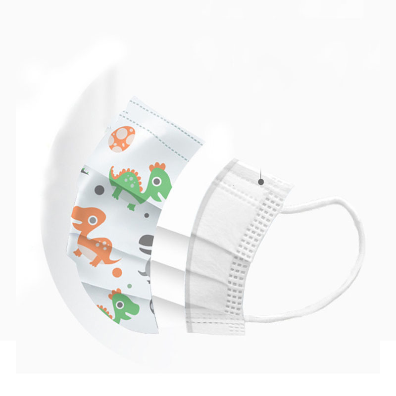 Disposable Kids Face Masks Thick 3 Ply Breathable Masks with Earloops Salon Home Comfortable dust-proof outdoor Mask
