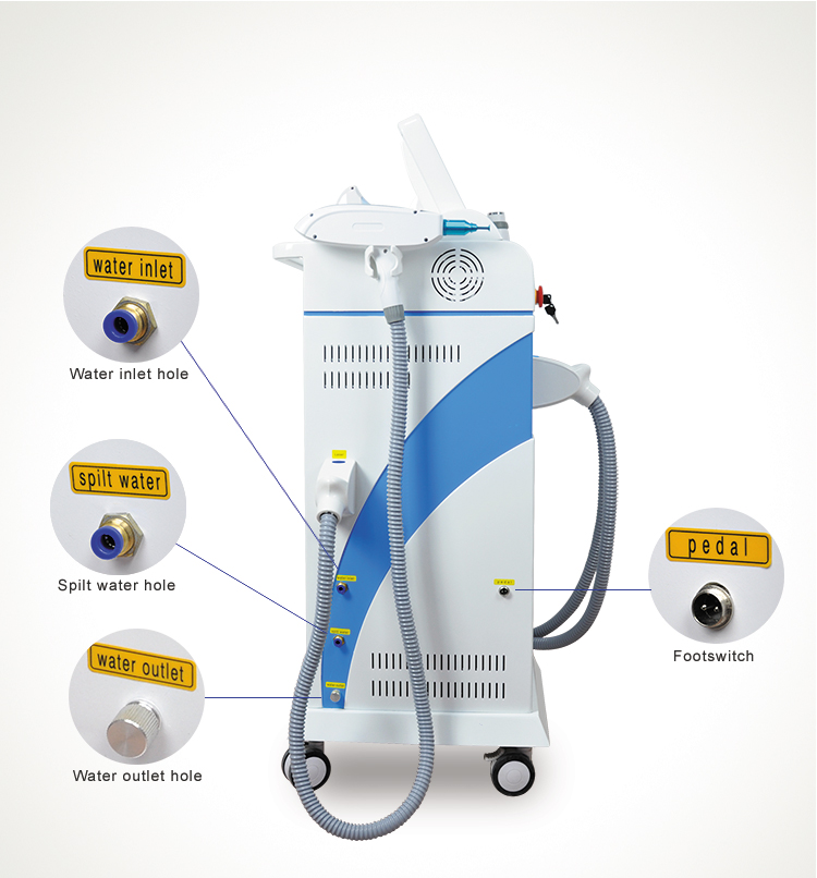 Hottest 4 in 1 rf OPT shr Laser permanent hair removal machines and equipments