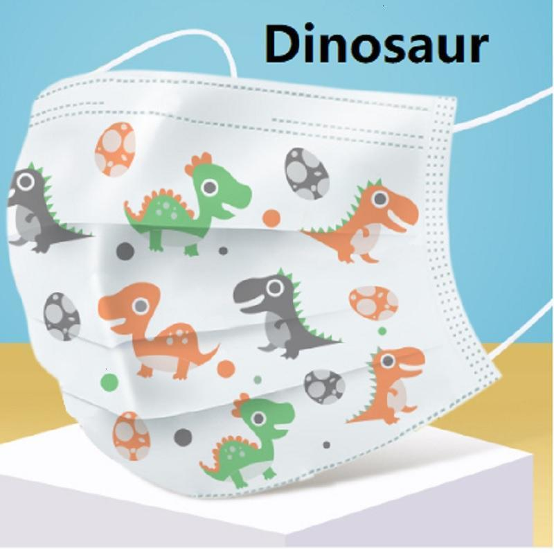 Kids Face Mask Disposable 3 Layers Anti Dust Masks Children Style Mask Carbon Filter Windproof Mouth Cover