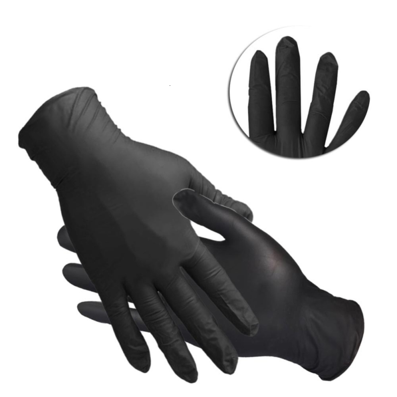 Washing Gloves Comfortable Rubber Disposable Mechanic Nitrile Gloves Black Dish Washing Gloves Guantes Para Lavar Platos
