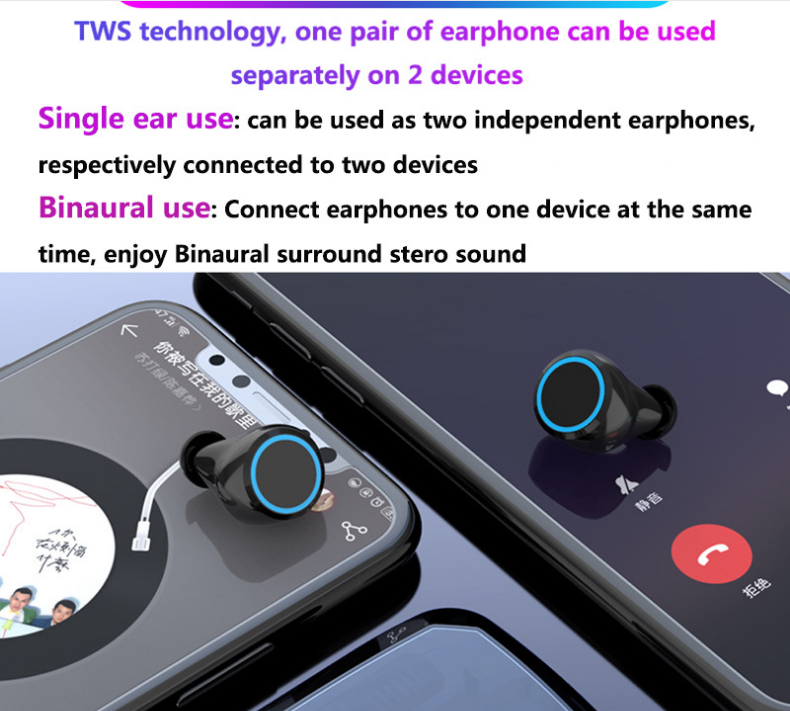 2020 Original color smart touch control audifonos mini sport earphone headphone wireless earbuds tws M11 with power bank