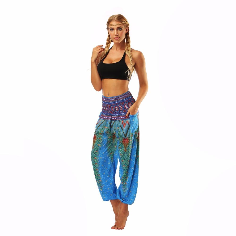 TL002- blue loose yoga pant legging (3)