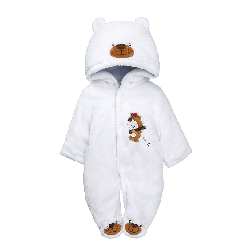 newborn baby clothes winter thicken warm fleece one piece jumpsuit 0-12M bebes cute animal Infant baby boy girl hooded overalls