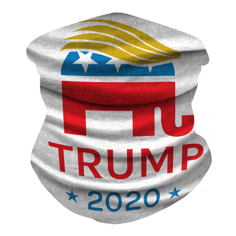 DHL Trump 2020 Bandana Face Shield Mask Biden Seamless Magic Scarf Keep America Great Headbands Cycling Headwear Neck For Party Mask