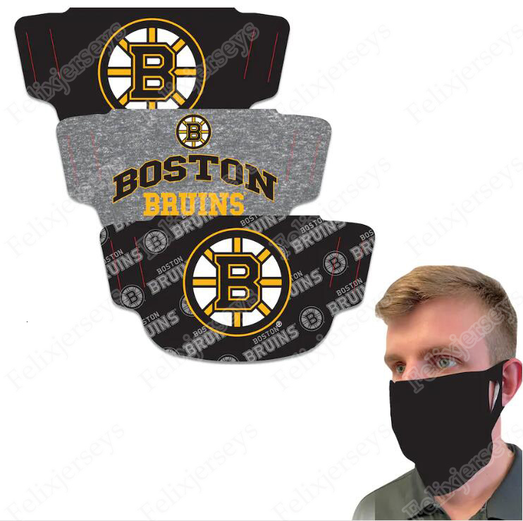 Boston Bruins WinCraft Adult Face Covering 3-Pack Dust Wind UV Sun Neck Gaiter Tube Headwear Motorcycle Cycling Riding Running Headba