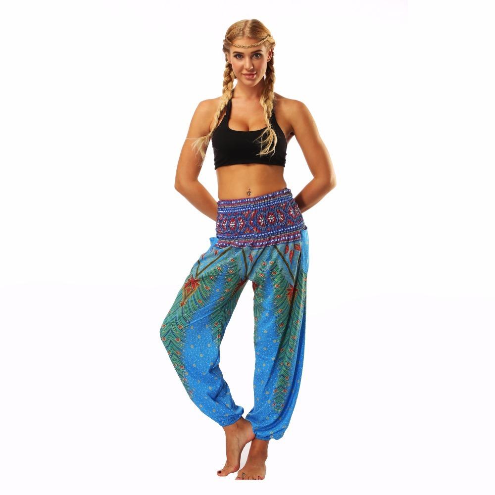 TL002- blue loose yoga pant legging (1)