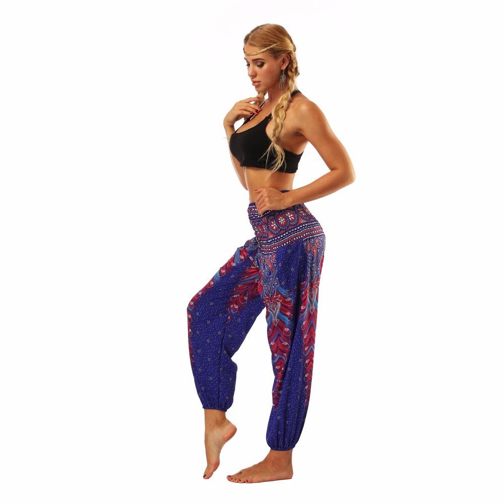 TL003 Royal blue wide leg loose yoga pant legging (6)