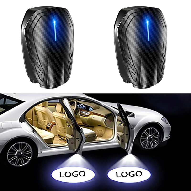 JDclubs 2PCS Universal Wireless Car Projection LED Projector Door Shadow Light Welcome Light Laser Emblem Logo Lamps fit fiat