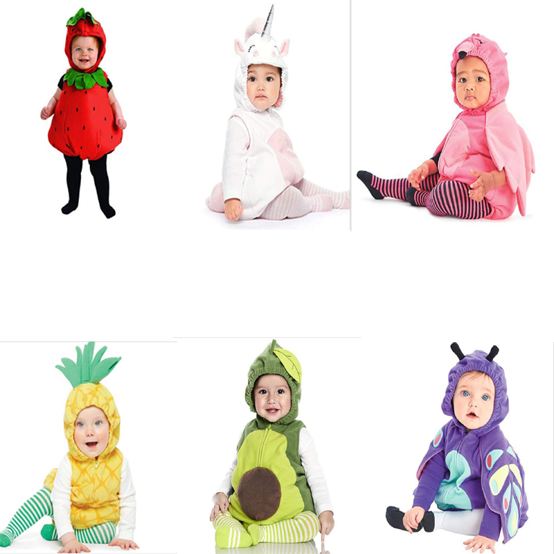 baby girl clothes cartoon unicorn animal Fruit Halloween Cosplay Costume newborn boy outfit christmas gift infant clothing set