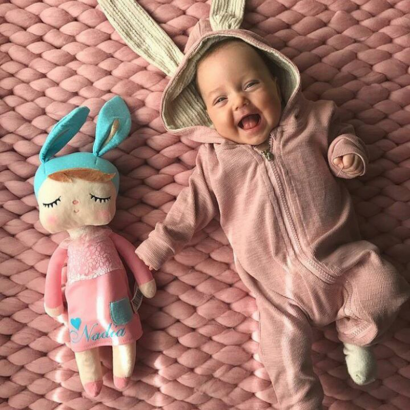 NEW BORN BABY CLOTHES infant Boy Girl Rompers cute rabbit ears Long Sleeve hooded Jumpsuit Spring Autumn unisex toddler costume