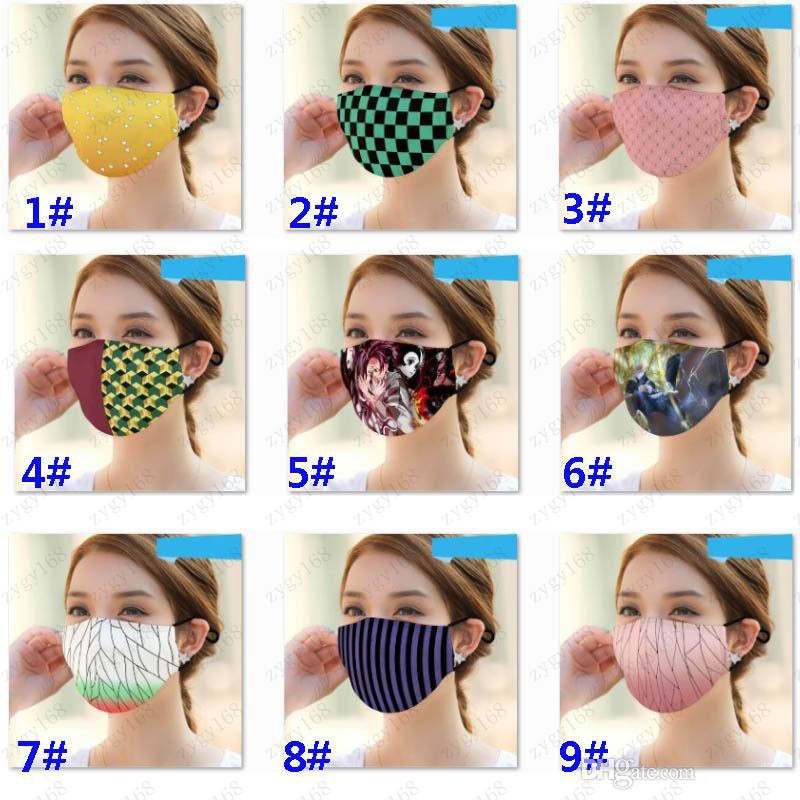 Washable Printed Cloth Mouth Mask PM2.5 Dustproof And Smong Face Mask Protective Mask For Striple