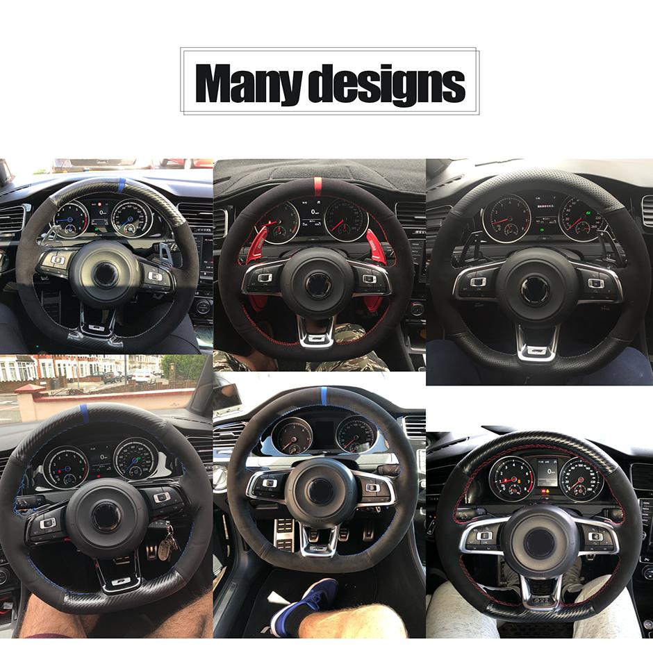 Steering Wheel Cover for Volkswagen VW Golf 7 GTI Golf R MK7 VW GTI Scirocco 2015 2016