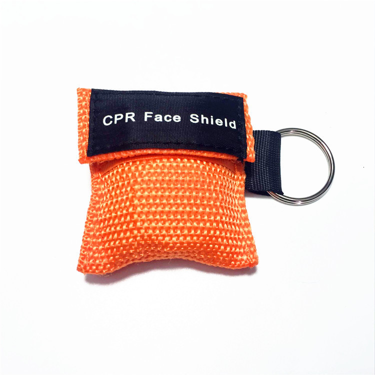 New CPR Resuscitator Mask Keychain Emergency Face Shield First Help CPR Mask For Health Care Tools