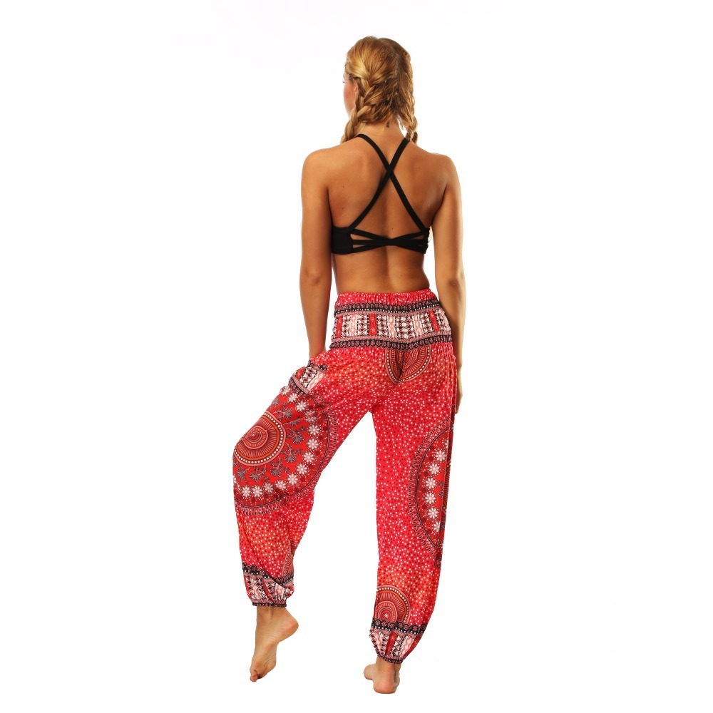 TL006- Red round circle wide leg loose yoga pant leggings (5)