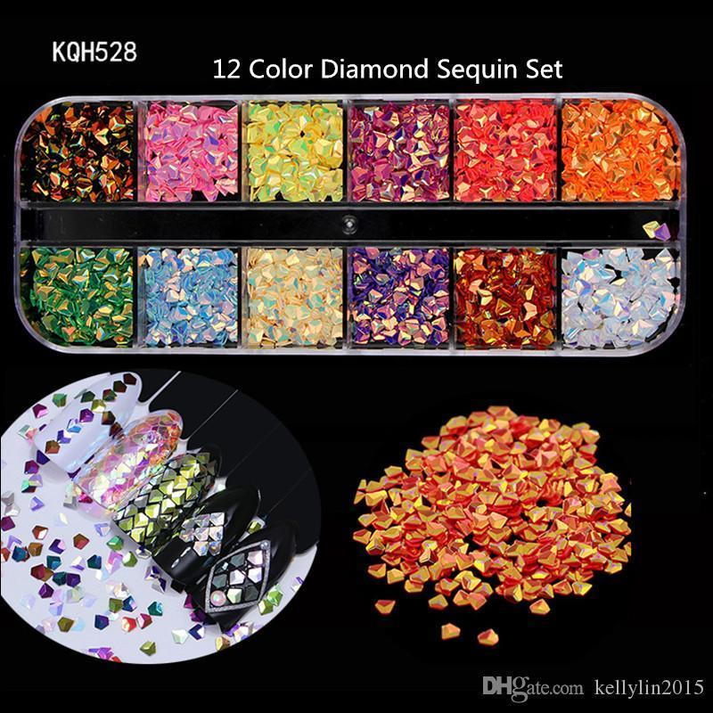 Nail Art Rhinestones 3D Crystal AB Clear Nail Stones Gems Pearl DIY Nail Art Decorations Gold Silver Alloy Diamond Rivet Sequins Rhinestone