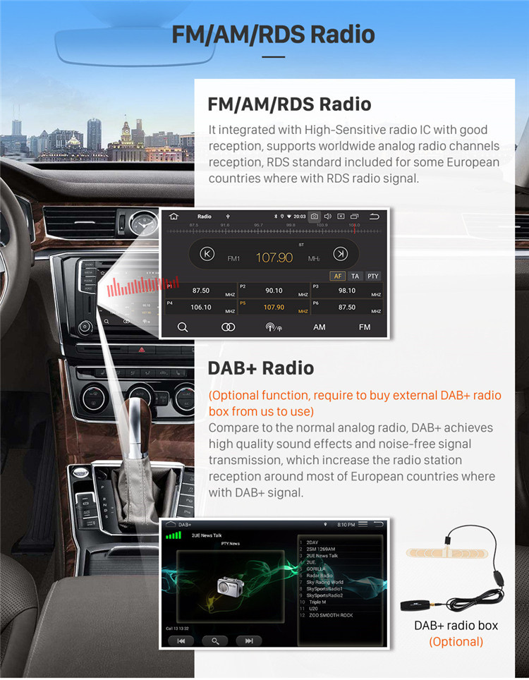 """9"""" GPS Navi Stereo Android 9.0 for 2014 - 2016 HONDA FIT RHD with WIFI Bluetooth Music USB AUX support DAB SWC DVR"""