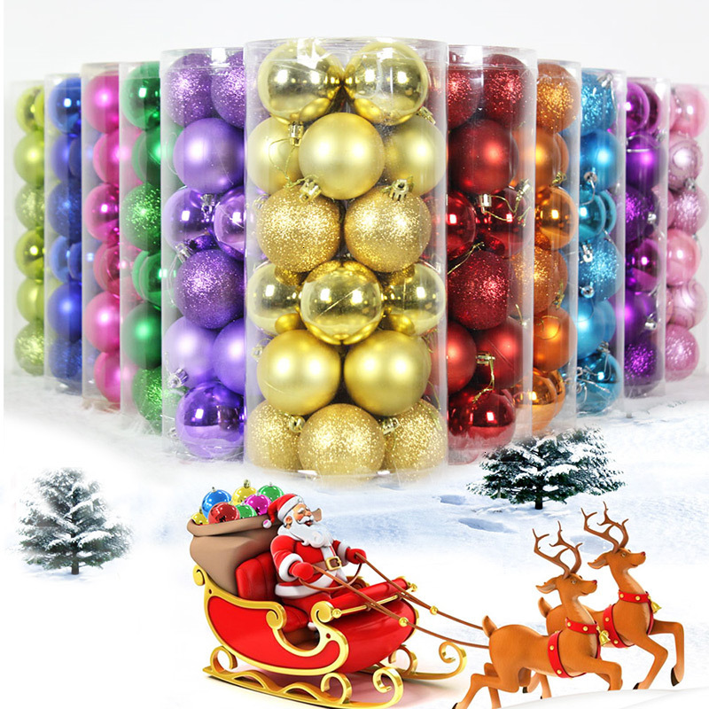 Christmas Tree Decor Ball 6cm Bauble Hanging Home Xmas Party Ornament Pendant Decor Decorations new