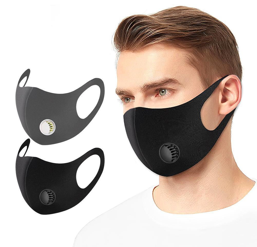 Breathing Recycle Valve Pm2.5 Mask Washable Masks Mask Anti-dust With Protective Face Valve Reusable Black Mask xhlight zPqGX