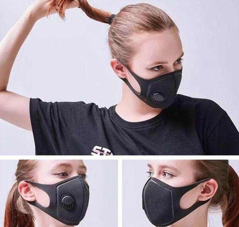 Odors Masks Respirator Adjustable Black Air Smoke Mouth Straps Reusable Ear For Mask Dust Pollution Face dnFEs bwkf