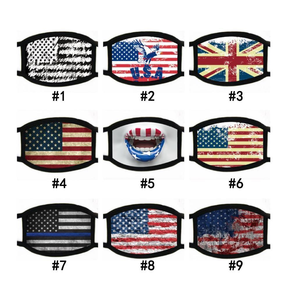 Face Masks Trump American Election Supplies Dustproof Print Mask Universal Pm2.5 Windproof Cotton Mouth American Flag Mask home2009 vxGsn