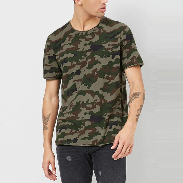 Wholesale China Imported Clothes Short Sleeve Camo Print Mens T Shirts