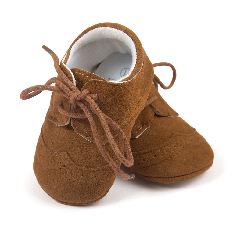 Baby pu splicing lace up moccasins infants preppy style soft sole pu matching shoes taddlers prewalker shoes prep maccasions shoes