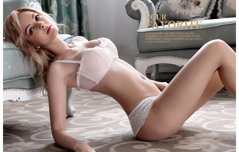 Jerrinut Sexy Lace Underwear Set Underwear Women Push Up Bra Lingerie Set Lace Transparent Underwear Panties And Bra Set 12