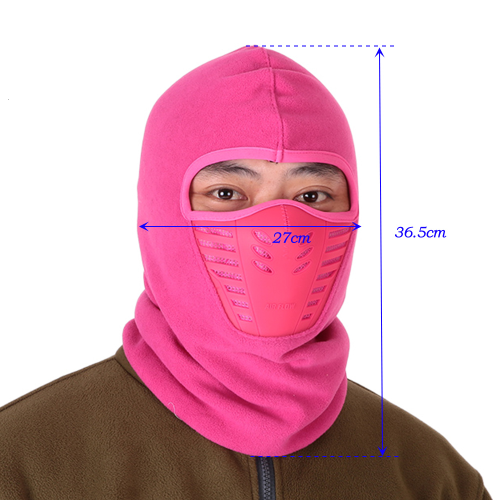Anti-dust Bike Thermal Balaclavas Scarf Cycling Winter Fleece Warm Full Face Cover Balaclava Face Mask Unisex
